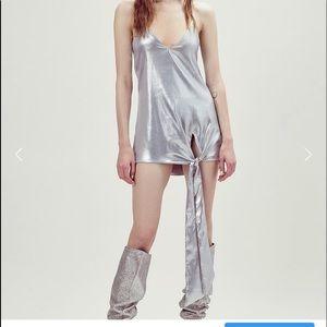 Silver mini or tunic